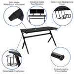 gaming desk features