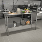 nsf certified stainless kitchen prep table