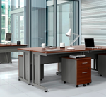 computer tables in office