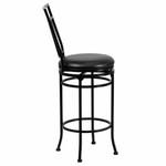 "Flash Furniture 29"" Black Metal Bar Stool with Leather Swivel Seat"