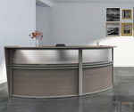 ash  2 person curved reception desk side view