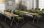 Global Bungee SL Powered Training Room Furniture Configuration
