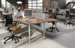 Global Bungee SL Series 6 Person Open Concept Office Workstation - BSL503