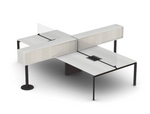 Friant Verity Contemporary 4 Person Benching Configuration
