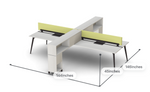 Friant Verity 4 Person Benching System with Storage