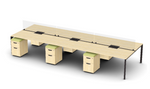 Friant Verity 6 Person Benching Layout FV-6001