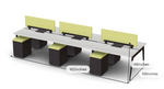 Friant Verity 6 User Collaborative Benching Layout FV-6004