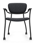 Global Caprice Series Modern Armchair with Casters 3365C