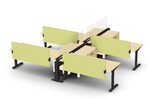 Friant My-Hite 4 Person Sit-To-Stand Workstation FMH-4004