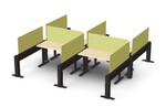 Friant My-Hite Sit-To-Stand 4 Person Workstation FMH-4006