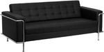 Flash Furniture 3 Piece Lesley Series Black Reception Furniture Set