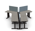 Friant My-Height 6 Person Y-Shaped Ergonomic Workstation FMH-4007