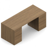"Global Genoa 72"" Straight Front Executive Pedestal Desk"
