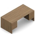 """Global Genoa 72"""" x 36"""" Suspended Pedestal Desk"""