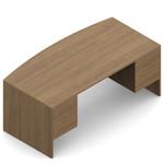 "Global Genoa 72"" x 36"" Laminate Bow Front Desk"