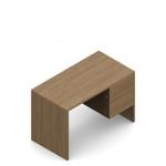"Global Genoa 45"" x 24"" Small Laminate Pedestal Desk"