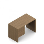"Global Genoa 48"" Laminate Office Desk with Suspended Pedestal"