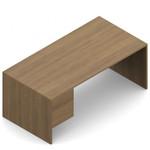 "Global Genoa 60"" Single Pedestal Desk"
