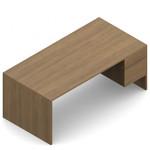"""Global Genoa 60"""" Laminate Desk with Suspended Pedestal"""
