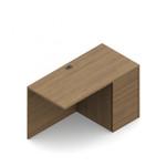 "Global Genoa 36"" x 20"" Right Side Desk Return with Pedestal"