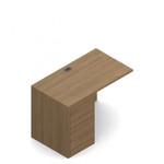 """Global Genoa 36"""" x 20"""" Left Side Desk Extension with File-File Pedestal"""