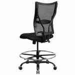 Flash Furniture 400 lb. Capacity Black Mesh Drafting Stool