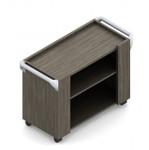 """Global Zira 36""""W x 18""""D x 36""""H Open Shelf Serving Cart Z361836KO"""