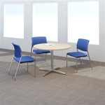 """Bush 42"""" Round Table with Metal Disc Base"""