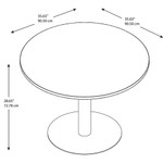 "Bush 42"" Round Table with Metal Disc Base"