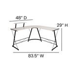 Flash Furniture Home Office Corner Desk