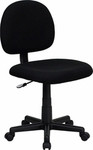 Flash Furniture Armless Black Fabric Task Chair