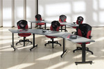 Global ConnecTABLES CNN504 Curved Training Tables Configuration