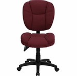 Flash Furniture Armless Burgundy Fabric Ergonomic Office Chair