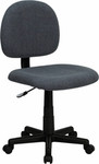 Flash Furniture Armless Gray Fabric Computer Chair