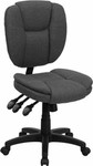 Flash Furniture Armless Gray Fabric Ergonomic Office Chair