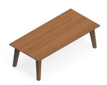 """Global Corby 42"""" x 20"""" Mid Century Coffee Table CBYCT4220H13"""