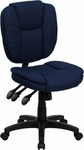 Flash Furniture Armless Multi Functional Navy Blue Office Chair