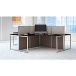 Bush Easy Office 4 Person Collaborative Desk Configuration EOD760MR