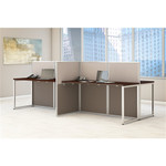 Bush Easy Office 4 Person Modular Cubicle Configuration EOD660MR