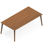 Global Corby Series Wood Veneer Freestanding Work Table