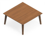 Global Corby Wood Veneer Guest Reception Table CBYCT3636H17