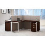 Bush Easy Office EOD560SMR 2 Person Panel Workstation with Pedestals