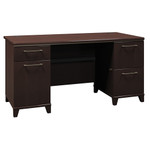 "Bush Enterprise 60"" Pedestal Desk"