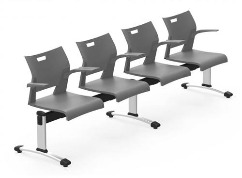 Global Duet Series 4 Person Beam Chair DUT502 (10 Colors Available!)