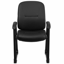 Flash Furniture Black Leather 400 lb. Capacity Big and Tall Guest Chair