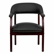 Flash Furniture Black Leather Captain's Chair
