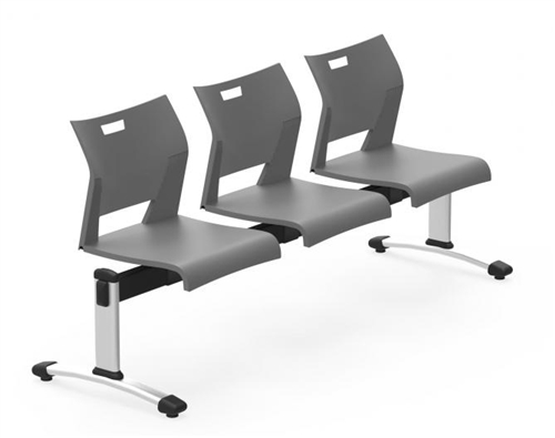 Global Duet Series Easy To Clean 3 Person Reception Bench DUT501 (10 Colors Available!)