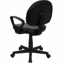 Flash Furniture Black Leather Ergonomic Task Chair with Arms