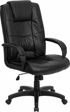 FL-GO-5301B-BK-LEA-GG-Flash Furniture Black Leather Executive Office Chair