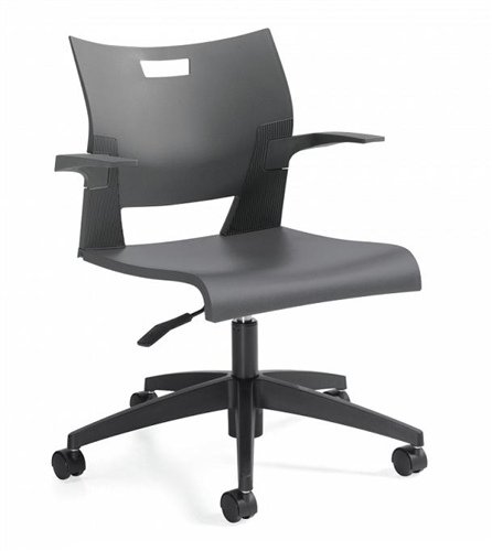 Global Duet Wipe Down Polypropylene Task Chair 6720 (10 Color Options!)